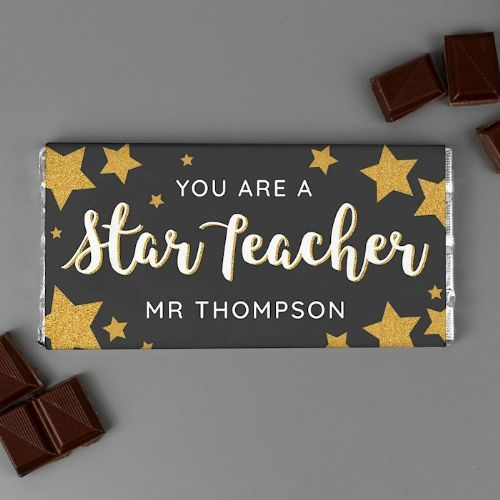 """You Are A Star Teacher"" Milk Chocolate Bar"